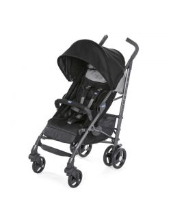 Lite Way3 Top Wózek spacerowy z pałąkiem Jet Black Chicco