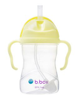B.BOX Bidon ze słomką 240ml Gelato Banana Split