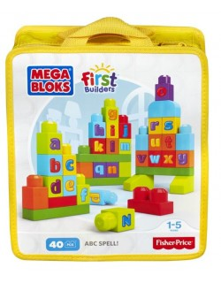 Fisher Price Klocki Ćwiczymy ABC! Mega Bloks First Builders Mattel